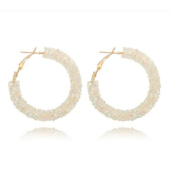 Exquisite Fasinable Simple Fashion Crystal Handmade Earrings Alloy Earring image