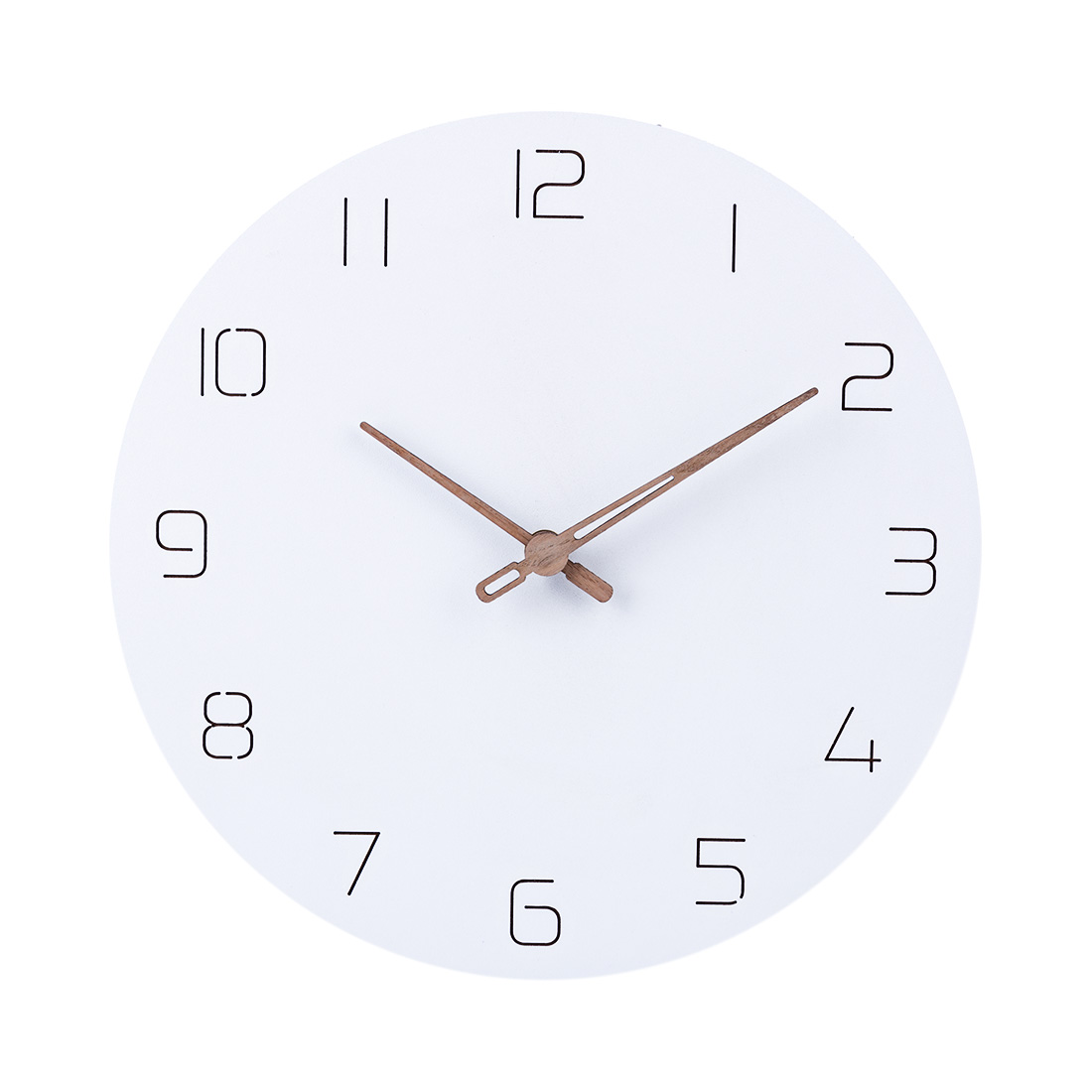 29cm Nordic Style Fashionable Simple Silent Wall Clocks For Home Decor Pure White Type Wall Clock Quartz Modern Design Timer