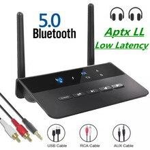 Adaptateur Audio sans fil Bluetooth 5.0, 80M, émetteur-récepteur Aptx LL, faible latence, 3.5mm, prise AUX RCA, pour PC, TV, casque