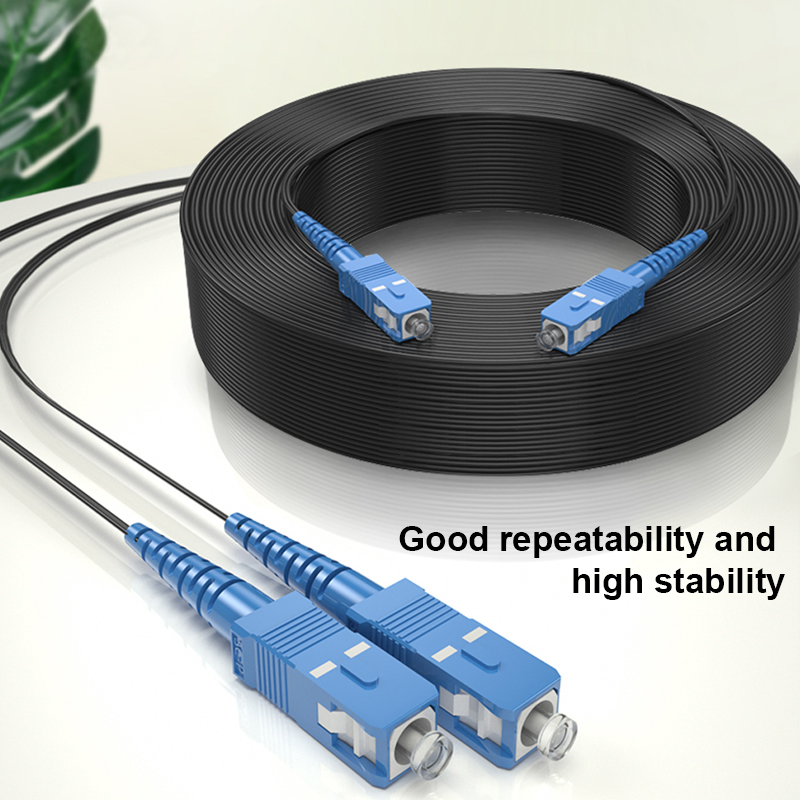 SC UPC to SC UPC Fiber Optic Drop Cable Single Mode Simplex 2.0mm Outdoor Fiber Optic Patch Cord Optical Patch Cable 4