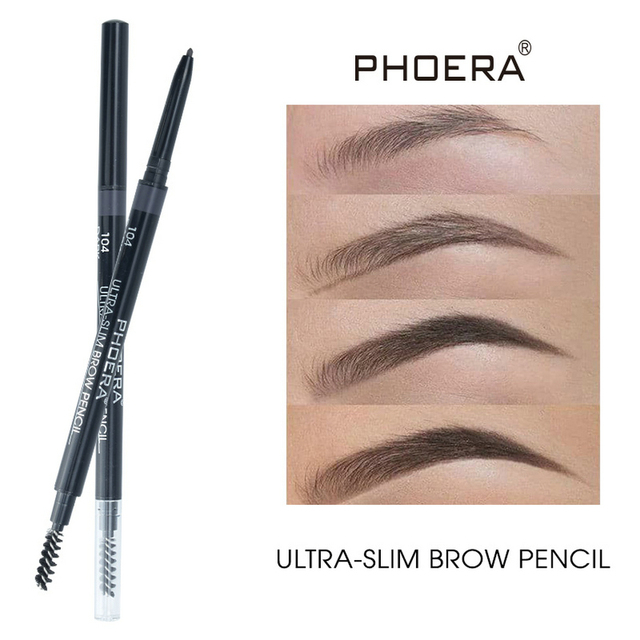 PHOERA 5 Color Double Ended Eyebrow Pencil Waterproof Long Lasting No Blooming Rotatable Eyebrow Tattoo Pen Makeup Brush 4