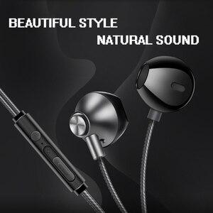 Image 5 - AZiMiYO المعادن سماعات أذن باص مريحة في الأذن إلغاء الضوضاء سماعات 3.5 مللي متر ميكروفون مرحبا الدقة الصوت نصف في الأذن سماعة