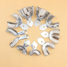 1 Set Dental Lab Equipment L/M/S Size Upper Lower Stainless Steel Impression Trays For Dental Lab Free Shipping