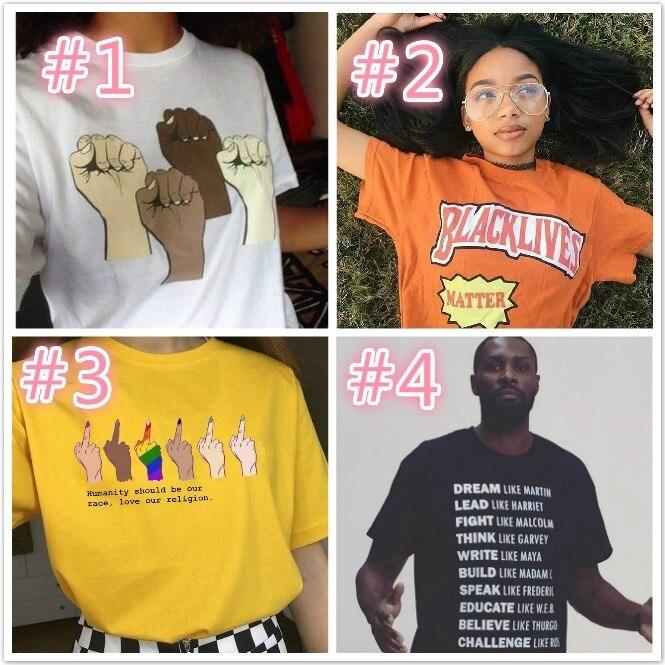 HAHAYULE JBH Summer Men Clothing Black Lives Matter Unisex T Shirt Men Women Tumblr Slogan T Shirt Equality Freedom Justice Tee      - AliExpress