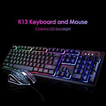K13 Gaming keyboard Mouse Combo RGB Backlight Mechanical Felling keyboard Gamer kit Silent Gamer Mouse Set for PC Laptop 2