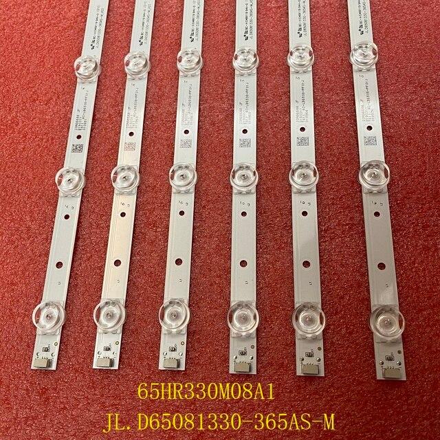 6 قطعة/المجموعة LED الخلفية قطاع لتوشيبا 65P65US TCL 65S421 65HR330M08A1 4C LB6508 HR01J PF01J JL.D65081330 365AS M