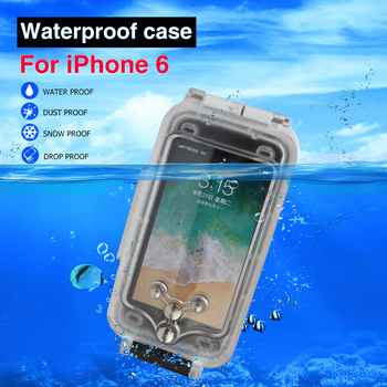For iPhone 6 6Plus 7Plus Case Waterproof Mobile phone Housing 40M Diving Underwater Protective Cover 1pc
