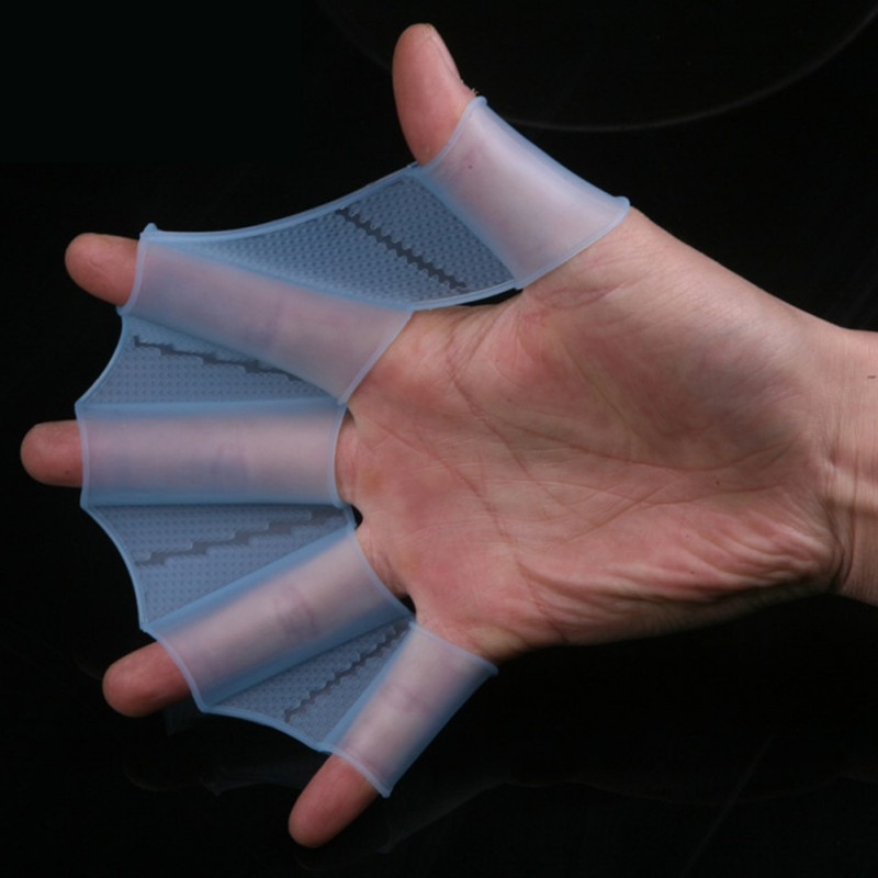 1pcs Swimming Handkerchief Silicone Swimming Gloves Diving Gloves Diving Fins Swimming Equipment