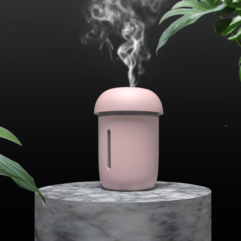 ELOOLE 200ML Mushroom Ultrasonic Air Humidifier Aromatherapy Diffuser With Mini USB Fan&LED Lamp Mist Maker For Home Car