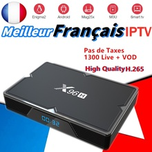 X96H Android 9.0 tv box French iptv channel subscription NEO 1300 live Spain Belgium Arabic france for smart 4k
