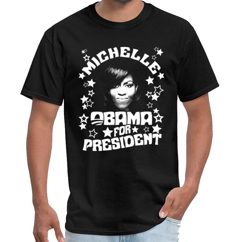 Customized Michelle Obama for President xxxtentacion shirt homme tee shirt vintage big size s~5xL slim fit image