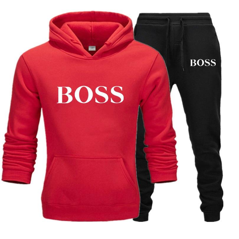 Winter Men Women Unisex 2 Piece Set Hoodie Pants Print Sportswear Pullover Sweatshirt Trousers Two Piece Set Tracksuit Suits