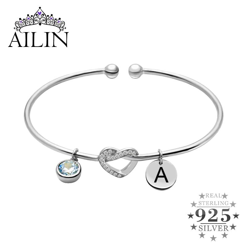 Strass Avec Coeur Pierre Or Couleur Bracelet Jonc Fashion Jewelry Gift