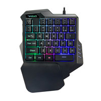 G30 Een Hand Mechanische Toetsenbord 35 Toetsen Led Backlight Wired Usb Enkele Hand Mini Gaming Toetsenbord