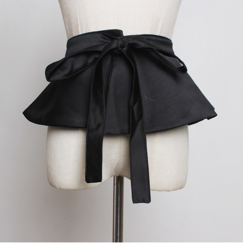 LANMREM 2020 New Fashion Skirt-style Girdle Fake Two-piece Black Belt Women Bandage All-match Female's Cloth Accessories YG41801