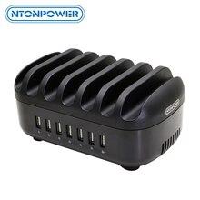 Универсальная зарядная станция NTONPOWER, док станция с держателем 70 Вт, 7 USB зарядных устройств для iphone Kindle Tablet