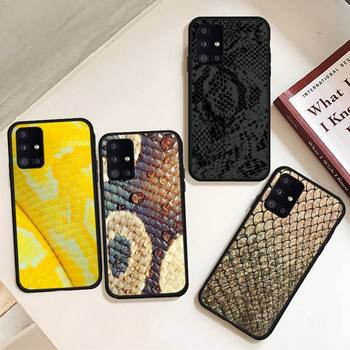 Colorful Gold Snake Skin Phone Case For Samsung S6 S7 edge S8 S9 S10 e plus A10 A50 A70 note8 J7 2017 image