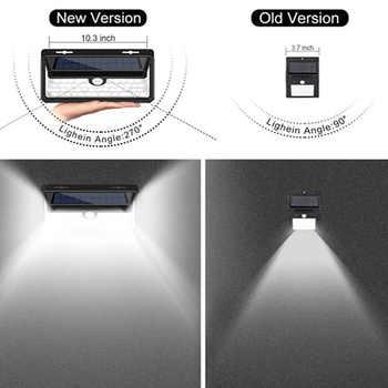 Solar Powered Flickering Flame 158 LED Night Light PIR Motion Sensor Light Outdoor Waterproof Home Garden Lamp