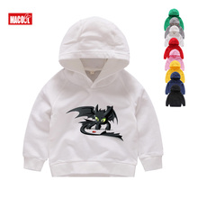 2019 Boys How To Train Your Dragon Toothless Cartoon Hoodies Sweatshirts Kids and Girls White