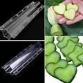 Огуречная форма для роста, Пластиковая форма в форме сердца с пятиконечной звездой, прозрачные садовые формы для фруктов и овощей