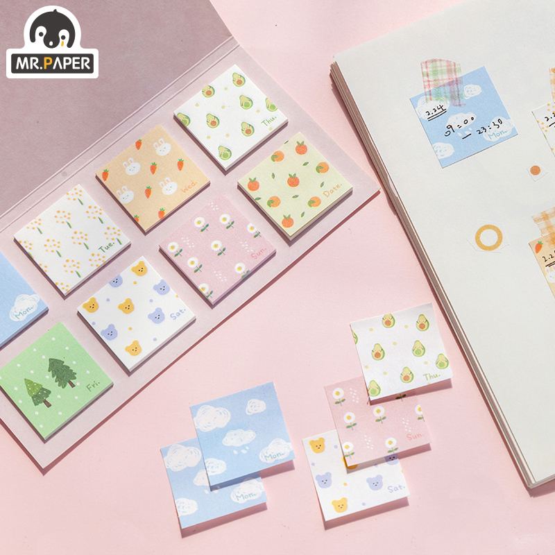 Mr.paper 20Pcs/pack 4 Designs Adorable Pet Rainy Small Weekend Creative Stickers Bullet Journal Deco Stationery Children Sticker