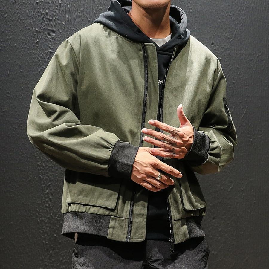 Черная джинсовая повседневная мужская куртка с карманами, мужские джинсовые куртки, Мужская модная Японская уличная одежда, хлопок, 5xl, HH50JK - 3