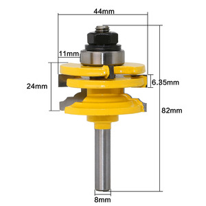 """Image 2 - LAVIE 1pc 8mm 12mm 1/2"""" Shank Glass Door Rail & Stile Reversible Router Bit Woodworking Milling Cutting for Wood Tool Bits 02014"""