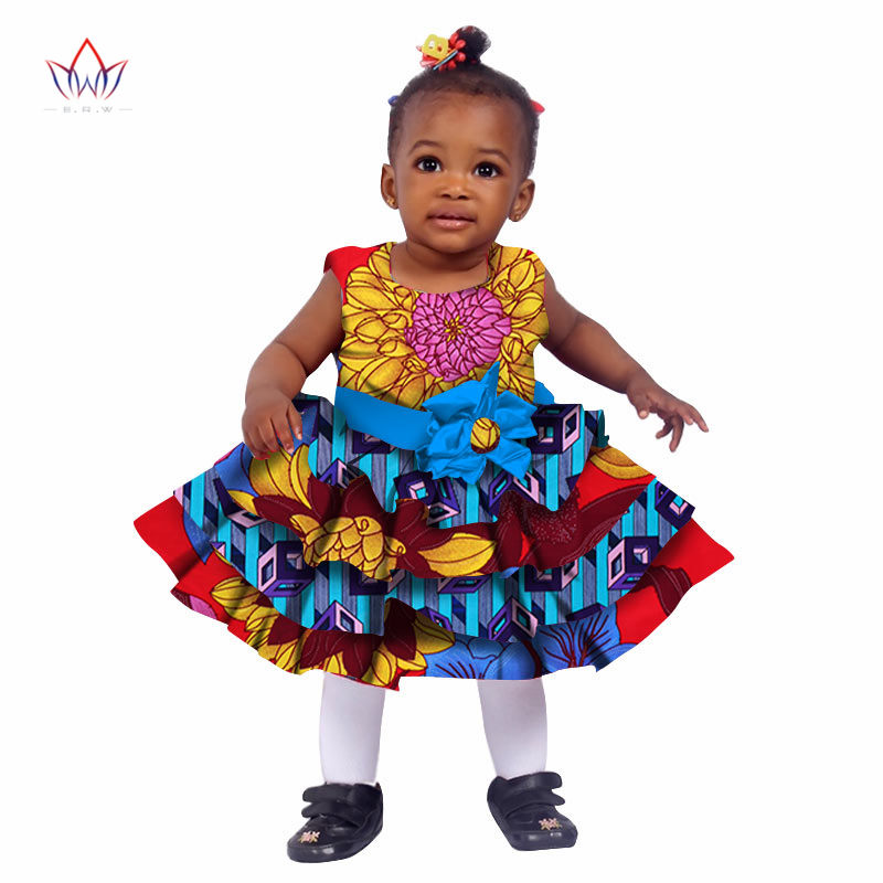 African Women Clothing kids dashiki Traditional Cotton Dresses Matching Africa Print Dresses Children Summer BRW WYT76 in Africa Clothing from Novelty Special Use