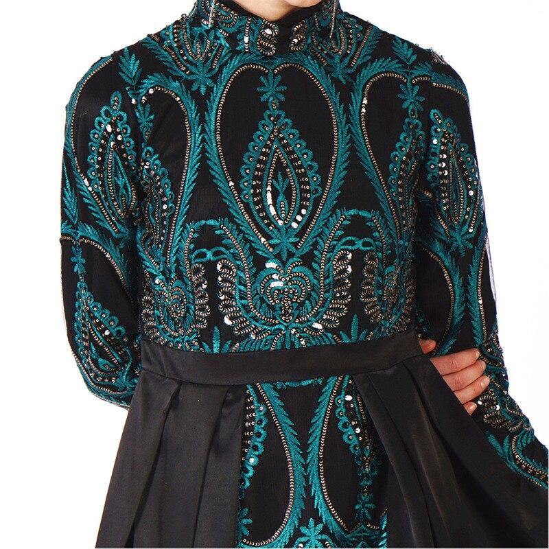Robe musulmane Abaya femmes du moyen-orient brodé paillettes Robe de soirée Maxi Robe Abaya Robe émirats arabes unis dubaï saoudien Eid - 4