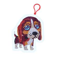 5D DIY Special Shaped Diamond Painting stickers Kit Wallet Dog Coin Purse Keychain Bag Pendants Christmas Gift(China)