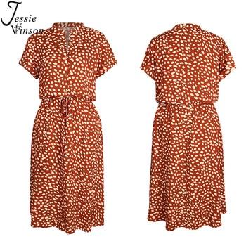 Jessie Vinson Dots Print White Summer Dress  5