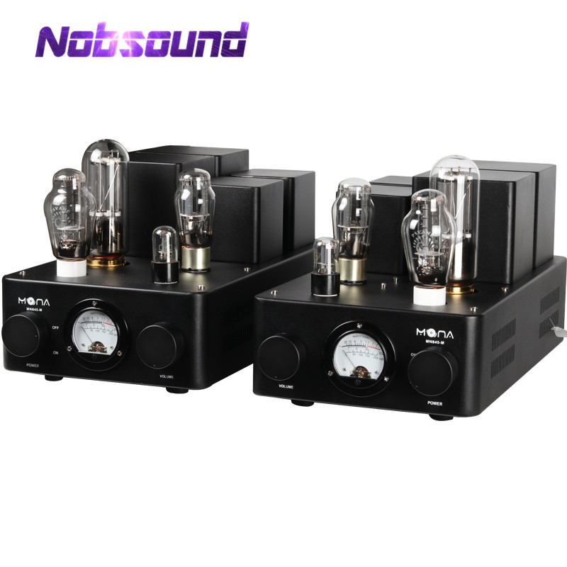 Nobsound Hi-end HiFi Stereo 300B Push 845 Tube Amplifier Class A Split SRPP Single-ended Power Amp 60W image