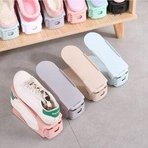 6 шт/10 шт Прочный регулируемый органайзер для обуви поддержка экономии пространства шкаф вешалка для обуви Подставка для шкафа