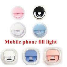 Мобильный телефон заполнить светильник Портативный селфи светодиодный Камера Кольцевая вспышка лампа 3 уровня световой зажим для всех моб...