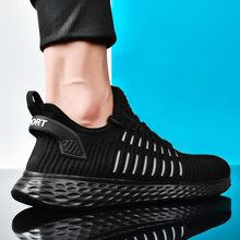 Plus Size Mesh Shoes Men Sport Running Shoes Male Sports Shoes Women Sneakers for Men Breathable Summer Tennis Man Black A673 breathable running shoes for men women sports shoes unisex black white red sneakers plus size 46