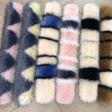 Luxury Winter Faux  Fur Collar Coat Women Scarf Warm Hairy Soft Shawl Hood Decor For Jackets Multi Color Female Scarves