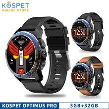 KOSPET Optimus Pro 3GB 32GB Smartwatch 8.0MP 800mAh IP67 للماء GPS المزدوج نظام Call4G الرجال هاتف ساعة ذكية ل IOS الروبوت