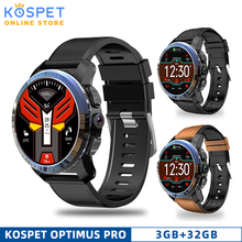 KOSPET Optimus Pro פרו 3GB 32GB Smartwatch 8.0MP 800mAh IP67 עמיד למים GPS כפולה מערכת Call4G גברים חכם שעון טלפון עבור IOS אנדרואיד