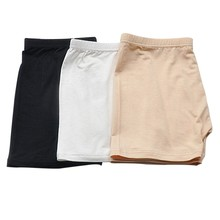 Women Prevent Exposure Shorts Panties Seamless Modal Elastic Solid Color Female Underpants Comfy Lady