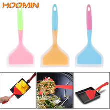 Cooking Utensils Pizza-Shovel Turners Kitchen-Tools Food-Lifters Silicone Spatula Non-Stick