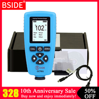 Цифровой датчик толщины покрытия BSIDE CCT01 1 микрон/0-2000um автомобильная краска пленка Толщина тестер метр измерения FE/NFE