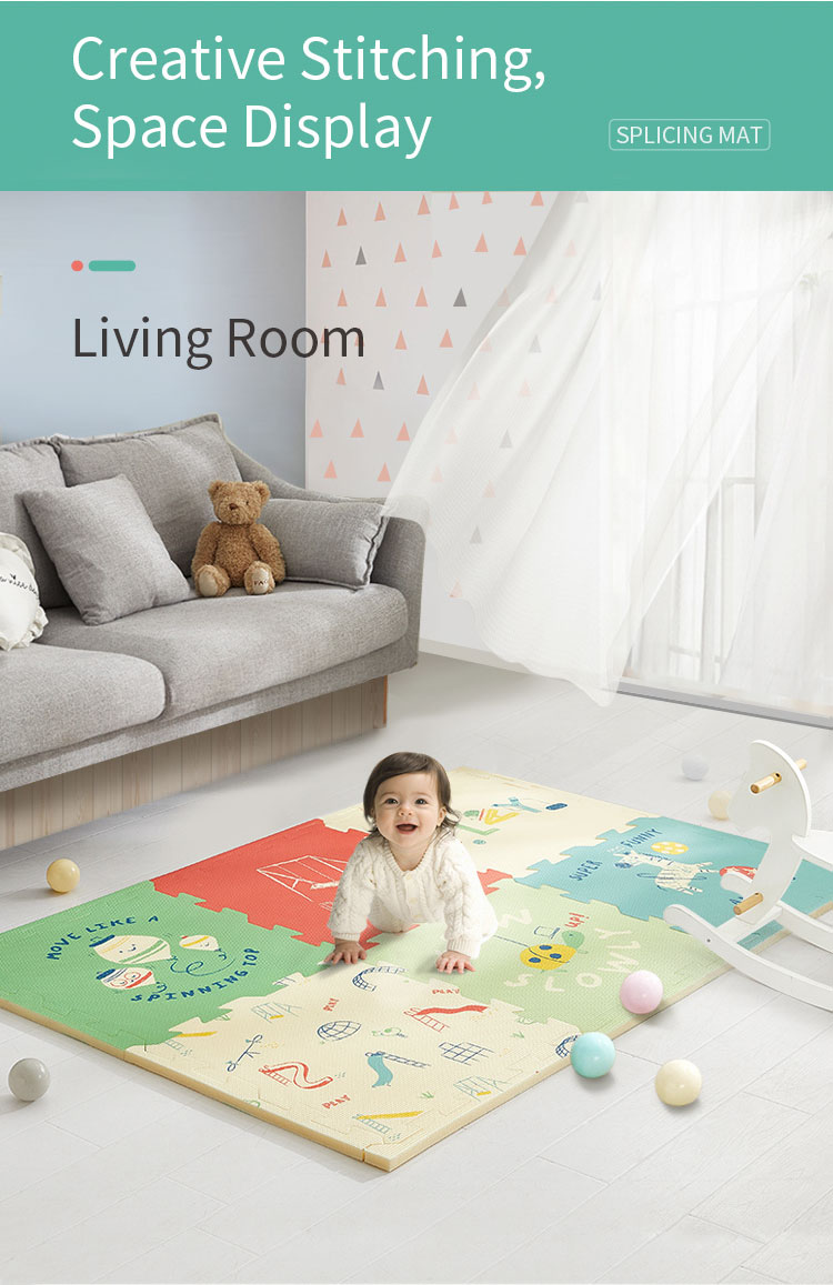 H02c06dc8ac434657a548e88e738ef330M BabyGo PE Foam Play Mat Baby Thickened Tasteless Crawling Pad Children Kids Living Room Cartoon Non-Slip Play Game Floor Mat