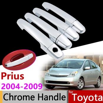 Car Accessories Exterior Door Chrome Handle Cover for Toyota Prius 2004~2009 XW20 20 2005 2006 2007 2008 Trim Set Stickers