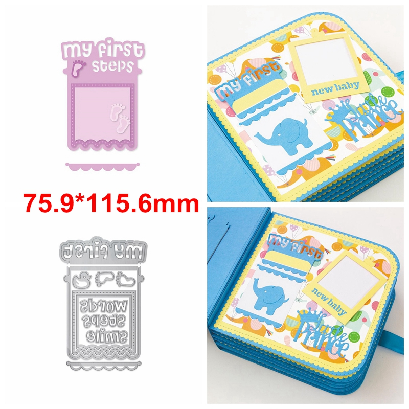 Memorial Card Frame For New-born Baby Metal Cutting Dies Stencils DIY Frame Card Die Cut For Card Making DIY 2020