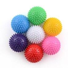 7 см 4 цвета ПВХ коврик для фитнеса шарики для массажа рук ПВХ подошвы Ежик сенсорный хват тренировочный мяч портативный шар для физиотерапии