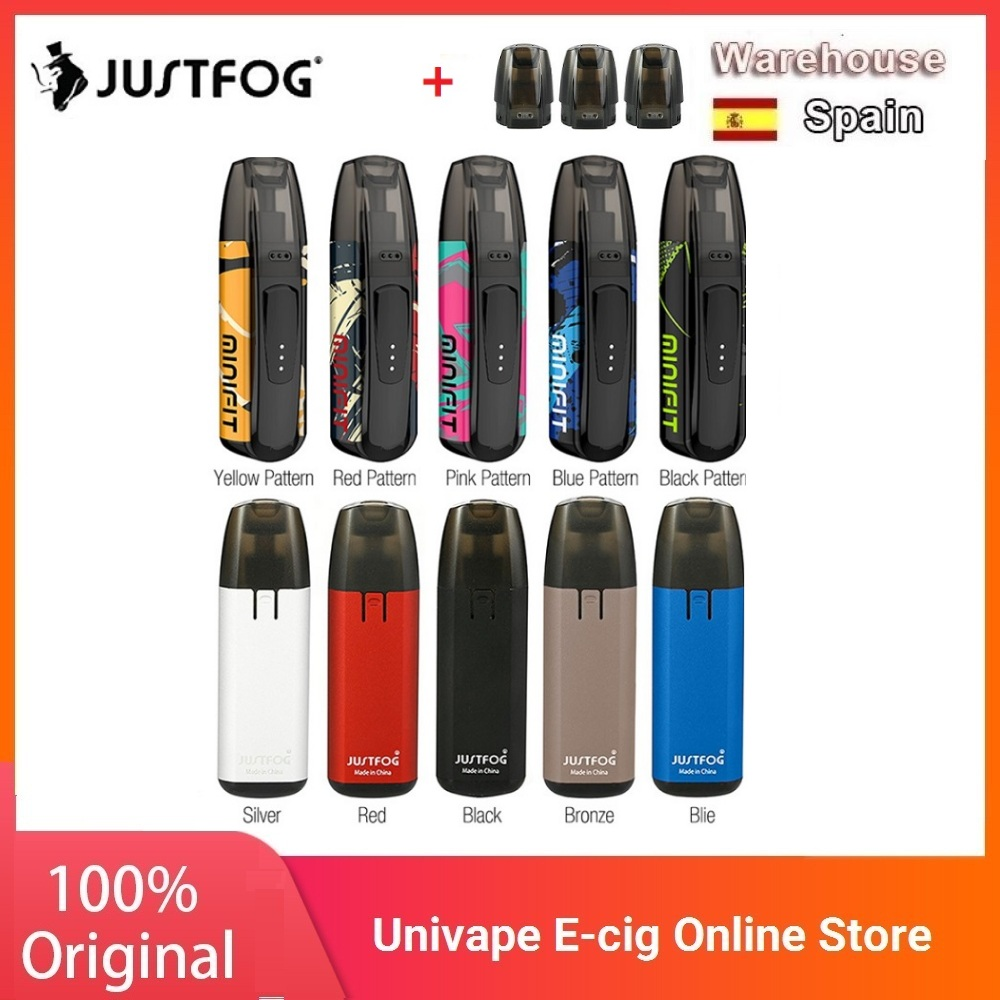 New Colors Kit JUSTFOG MINIFIT Pod Vape Kit W/ 370mAh Battery & 1.5ml Cartridge Pod System Pod Vape Kit Vs Drag Nano/ Vinci X