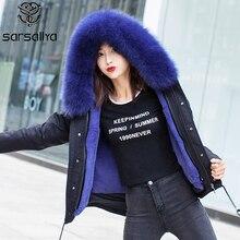 2019 Short Parka With Hood Women Winter Jacket Parka Real Fur