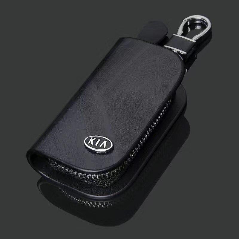 Чехол для автомобильных ключей из натуральной кожи, чехол для KIA Sportage R Stinger Sorento Some Forte K2 K3 K5 Optima Picanto, аксессуары