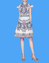 2019 Women Summer Tunic Short Sleeve Straight Shift Geometric Midi Dresses  Plus Size Tribal And Botanical Print Boho Dress