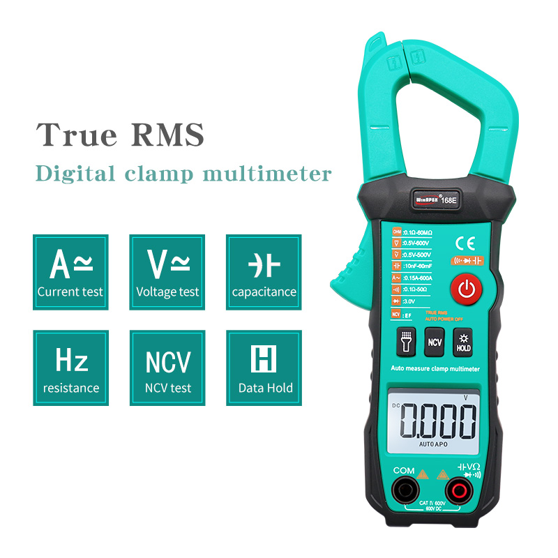 True RMS Digital Clamp Meter 168C/D/E DC AC Current Voltage Ampere NCV Ohm Tester Ammeter Capacitor Multimeter Electrician Tool